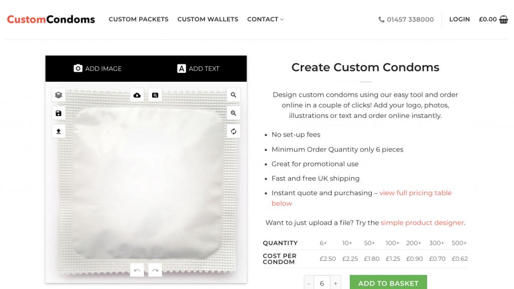 Condom Designer Tool